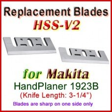 Set of 2 Carbide Blades for Makita 3'' Handheld Planer, 1923B