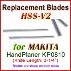 Set of 2 HSS Blades for Makita 3'' Handheld Planer, KP0810