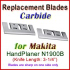 Set of 2 HSS Blades for Makita 3'' Handheld Planer, N1900B
