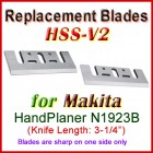 Set of 2 HSS Blades for Makita 3'' Handheld Planer, N1923B