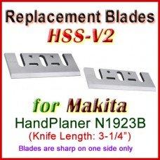 Set of 2 HSS Blades for Makita 3'' Handheld Planer, N1923B