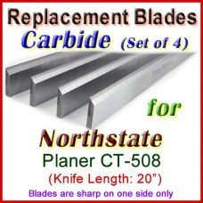 Set of 4 Carbide Blades for North State 20'' Planer, CT-508