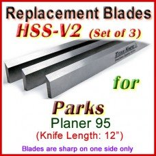 Set of 3 HSS Blades for Parks 12'' Planer, 95