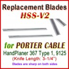 Set of 2 HSS Blades for Porter Cable 3'' Handheld Planer, 367 Type 1, 9125