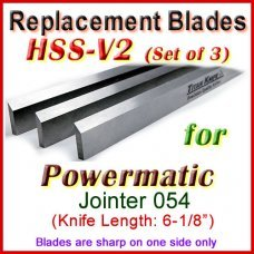 Set of 3 HSS Blades for Powermatic 6'' Jointer, 054