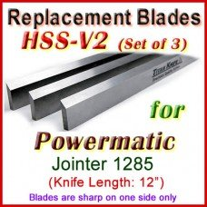 Set of 3 HSS Blades for Powermatic 12'' Jointer, 1285