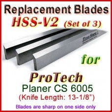 Set of 3 HSS Blades for ProTech 13'' Planer, CS 6005