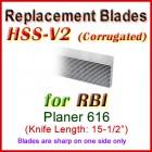 Set of 3 HSS Blades for RBI 15-1/2'' Planer, 616