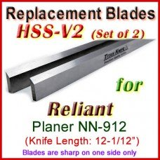 Set of 2 HSS Blades for Reliant 12-1/2'' Planer, NN-912