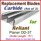 Set of 3 Carbide Blades for Reliant 15'' Planer, DD-37