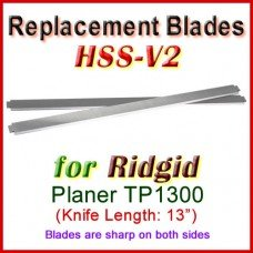 Set of 2 HSS Blades for Ridgid 13'' Planer, TP1300