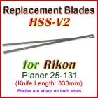 Set of 2 HSS Blades for Rikon 13'' Planer, 25-131