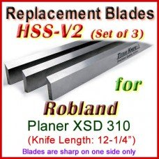 Set of 3 HSS Blades for Robland 12'' Planer, XSD 310