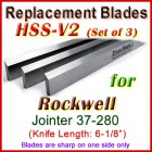 Set of 3 HSS Blades for Rockwell 6'' Jointer, 37-280