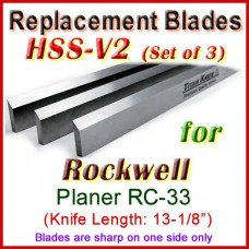 Set of 3 HSS Blades for Rockwell 13'' Planer, RC-33