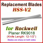 Set of 2 HSS Blades for Rockwell 12-1/2'' Planer, RK9018