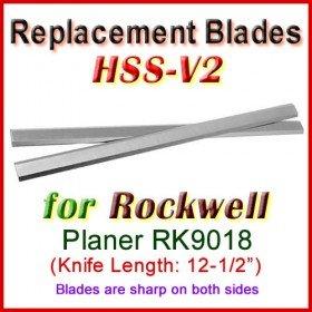 Set of 2 HSS Blades for Rockwell 12-1/2'' Planer, RK9018