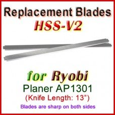 Set of 2 HSS Blades for Ryobi 13'' Planer, AP1301