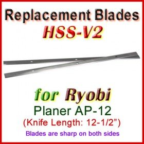 Set of 2 HSS Blades for Ryobi 12-1/2'' Planer, AP-12