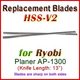 Set of 2 HSS Blades for Ryobi 13'' Planer, AP-1300