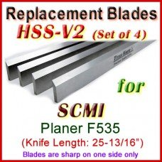 Set of 4 HSS Blades for SCMI 26'' Planer, F535