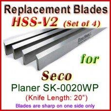 Set of 4 HSS Blades for Seco 20'' Planer, SK-0020WP