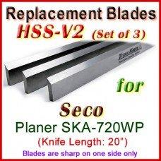 Set of 3 HSS Blades for Seco 20'' Planer, SKA-720WP