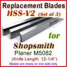 Set of 3 HSS Blades for Shopsmith 12'' Planer, M5082