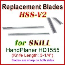 Set of 2 HSS Blades for Skill 3'' Handheld Planer, HD1555