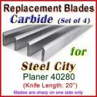 Set of 4 Carbide Blades for Steel City  Planer, 40280