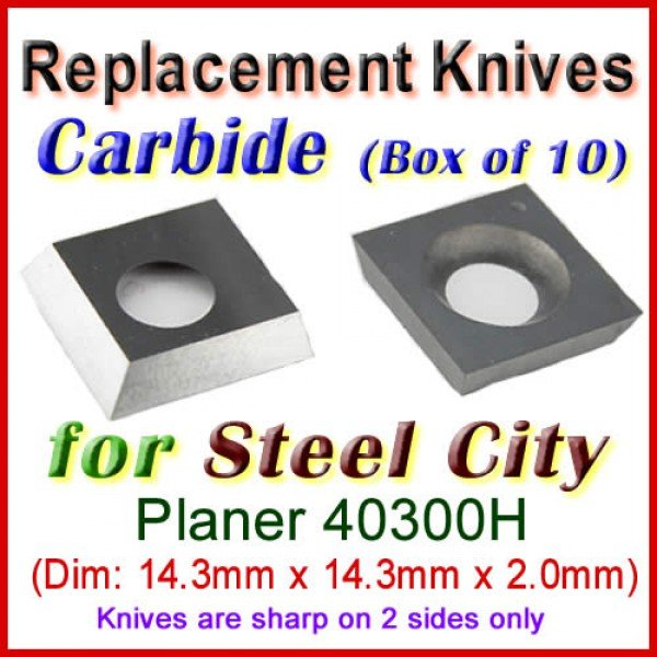 Box Of 10 Carbide Insert Knives For Steel City Planer 40300h