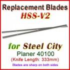 Set of 2 HSS Blades for Steel City 13'' Planer, 40100