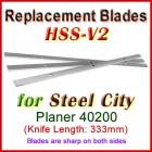 Set of 3 HSS Blades for Steel City 13'' Planer, 40200