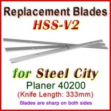 Set of 3 HSS Blades for Steel City 13'' Planer, 40200