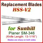 Set of 2 HSS Blades for Sunhill 13'' Planer, SM-346