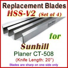 Set of 4 HSS Blades for Sunhill 20'' Planer, CT-508