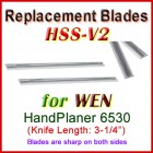 Set of 2 HSS Blades for WEN 3'' Handheld Planer, 6530