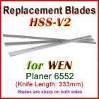 Set of 3 HSS Blades for WEN 13'' Planer, 6552