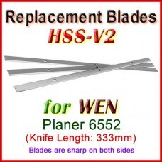 Set of 3 HSS Blades for WEN 13'' Planer, 6552