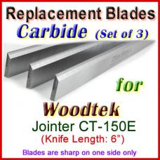 Set of 3 Carbide Blades for Woodtek  Jointer, CT-150E