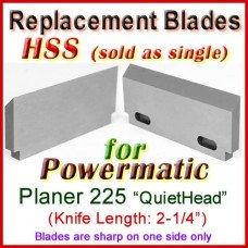 "Set of 1 HSS-V2 Blades - Length: 2-1/4"", Width: 1"", Thickness: 3/16"""