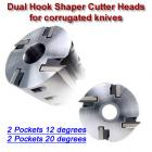 "Cutter Head for corr. knives (Titan), Bore: 1 1/4'', Width: 50mm (1.96""), Diam.: 100mm (12 and 20 degree hook angle)"