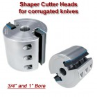 Shaper Cutter Head for corrugated knives (Titan Brand), Bore: 3/4'', Width: 80mm (3.15