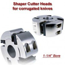 Shaper Cutter Head for corrugated knives (Titan Brand), Bore: 1 1/4'', Width: 50mm (1.96