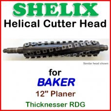 SHELIX for BAKER 12'' Planer, 12 Thicknesser RDG