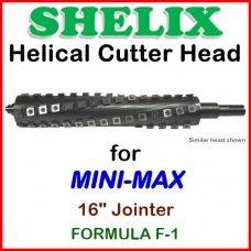 SHELIX for MINI-MAX 16'' Jointer, FORMULA F-1