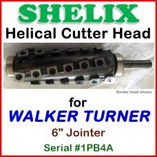 SHELIX for WALKER TURNER 6'' Jointer, Serial #1PB4A