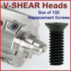 Set of 100 Replacement Screws for V-Shear Heads