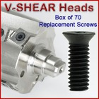 Set of 70 Replacement Screws for V-Shear Heads