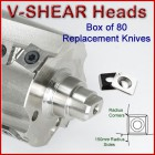 Set of 80 Replacement Knives for V-Shear Heads